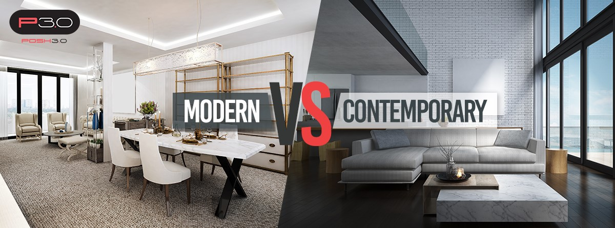 Posh Home Modern Vs Contemporary Home Design Posh Home Live In Style